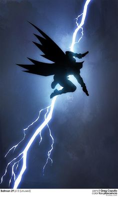 Batman! In the style of 'The Dark Knight Returns' by Greg Capullo and coloured by Fco Plascencia!