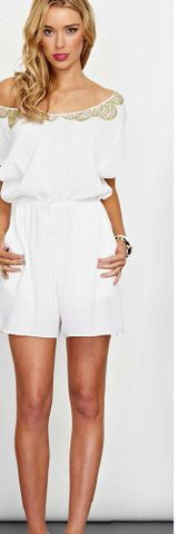Cooper st Golden child playsuit in white. We LOVE $109.95