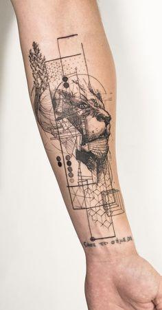 Geometric Tattoos - Geometric Tattoos - tattoo designs ideas männer männer ideen old school quotes sketches Armband Tattoo Design, Lion Tattoo Design, Forearm Tattoo Design, Forearm Tattoos, Arm Band Tattoo, Body Art Tattoos, New Tattoos, Small Tattoos, Sleeve Tattoos
