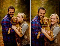 Fall Dog Family Photo