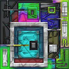 "Saatchi Art Artist Igor Bajenov; Collage, "".... Geometric improvisation in Deco style!"" #art"