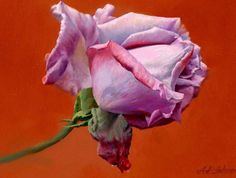rosas pintadas al oleo - Buscar con Google