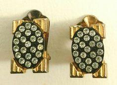 Retrouvez cet article dans ma boutique Etsy https://www.etsy.com/fr/listing/502911988/boucles-doreilles-a-clip-rectangle-metal