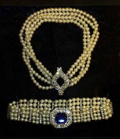Pearl chokers beong to the Empress Marie - mother of Czar Nicholas.