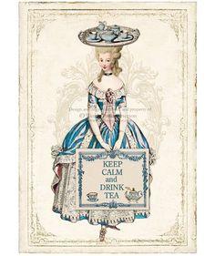 Marie Antoinette Keep Calm and Drink Tea Art by CafeBaudelaire. via Etsy.
