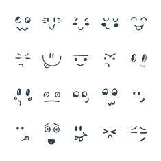 Find Sketched Facial Expressions Set Set Hand stock images in HD and millions of other royalty-free stock photos, illustrations and vectors in the Shutterstock collection. Thousands of new, high-quality pictures added every day. Emoji Drawings, Kawaii Drawings, Doodle Drawings, Cute Easy Drawings, Art Drawings For Kids, Funny Cartoon Faces, Facial Expressions Drawing, Doodle People, Doodle Characters