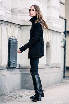 # Emerson Fry: Big Knit Sweater - Black