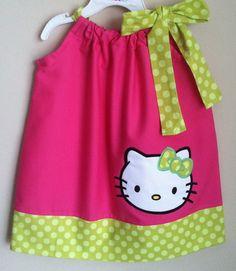 Super Cute Hello kitty pillowcase dress. $28.00, via Etsy.