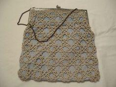 Tatted vintage handbag on Ebay