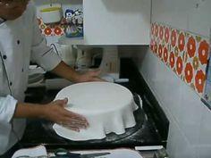 Como Transferir um desenho para bolos de Pasta Americana - YouTube