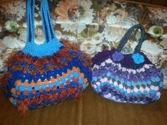 Crochet Granny Square Bag / Purse....Free Tutorial