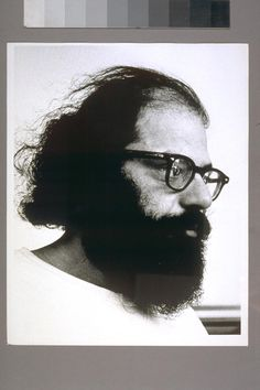 Allen Ginsberg of the Beat Generation in the 1950s. Portrait.