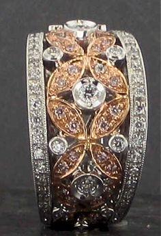 Gold filigree & diamonds - gorgeous.