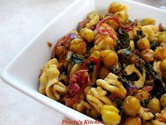Preety's Kitchen: Indian StyleVegetarian Pasta with Garbanzo Beans