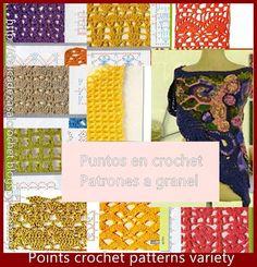 Delicadezas en crochet Gabriela: Puntos fantasìa en crochet con moldes y cuadrìcula...