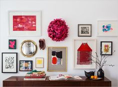 Create A Gallery Wall With A Little Something Extra With These Six Inspiring Tips: Keep The Color Going