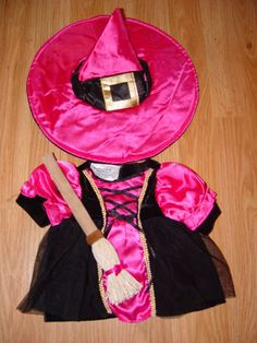 Build a Bear Clothes Clothing Outfit Pink Halloween Witch w/ Broom #Halloween