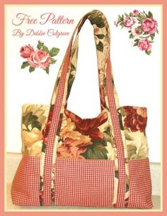Two Toned Handbag – Free Sewing Project + Awesome DIY Fabric Labels with Debbie Cosgrove and iheartstitching ❤  #sewing