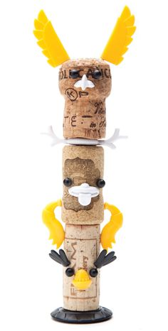 monkey business adds corkers totem kit to animal + robot series by reddish studio Monkey Business, Diy For Kids, Crafts For Kids, Arts And Crafts, Animal Robot, Wine Corker, Cork Art, Wine Cork Crafts, Gifted Kids