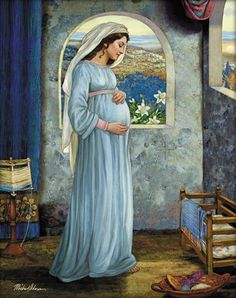 Mary Mother Of God - by Michael Adams Pictures Of Mary, Images Of Mary, Jesus Pictures, Mother Mary Images, Catholic Prayers, Catholic Art, Religious Art, Blessed Mother Mary, Blessed Virgin Mary
