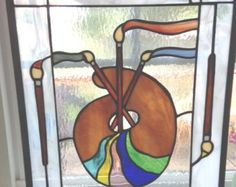 Blue Crab in Stained Glass by glassmankaf on Etsy