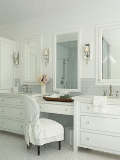 Why would you even leave this bathroom. Master bath in the 2014 Coastal Living Showhouse on Coronado Island. Photo: Tria Giovan