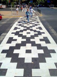 Plaza Italia crosswalk
