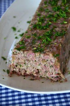 Mennyei Mignon: Csülök terrine Meatloaf, Meat Recipes, Pork, Tasty, Christmas, Bite Size, Kale Stir Fry, Xmas, Navidad
