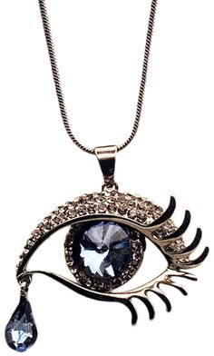 Diamante Eye Shaped Necklace