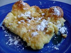 A little lemon juice, powdered sugar and melted butter on top of a German pancake is the best.