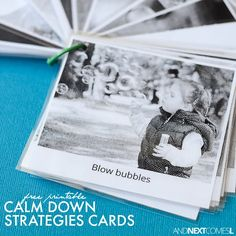 Free printable visual calm down strategies for kids with autism or anxiety from And Next Comes L