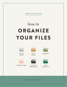 An inside look into how we handle file organization at Spruce Rd. Everything from how to organize your blog posts, client work and marketing files.