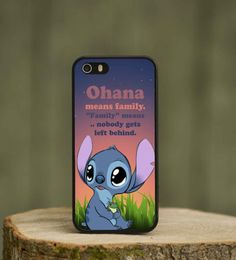 Lilo and stitch quote cute phone case cover for kids. Apple iphone 4 4s 5 5s 5c. Black white plastic rubber.