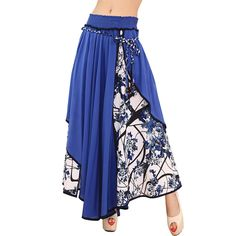Waist Maxi Skirts Floral Patchwork Asymmetric Pleated. Gender: WomenMaterial: Linen,Nylon,CottonStyle: FashionSilhouette: AsymmetricalDecoration: Lace-UpDresses Length: Ankle-LengthWaistline: EmpirePattern Type: PrintModel Number: ZK099Color: Dark Blue,Light Blue.Size: Free SizeSeason: Spring,SummerColor Style: Natural ColorStyle: Bohemian SkirtSkirts Womens 2017: Asymmetrical SkirtLadies Cotton Linen Skirts: High Quality Skirts FemaleSaias Femininas: Casual Skirts WomensHigh Waist Skirts…