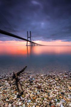 Esperando que a maré me leve - Ponte Vasco da Gama  - Hugo Só