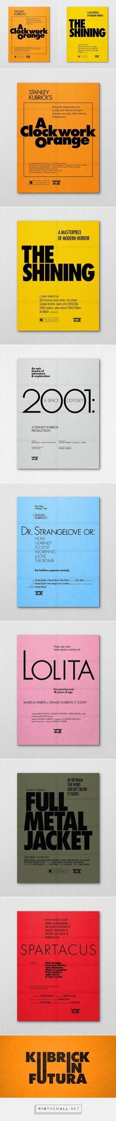 Kubrick's Movie Posters in Futura – Fubiz Media - created via http://pinthemall.net