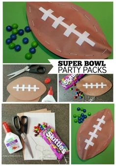 These Super Bowl Party Packs will be a hit on game day! A football craft that is easy to make and the candy inside is sure to be a winning surprise!