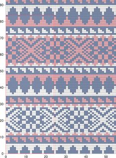 "Photo from album ""Жаккарды on Yandex. Tejido Fair Isle, Punto Fair Isle, Motif Fair Isle, Fair Isle Chart, Fair Isle Pattern, Tapestry Crochet Patterns, Fair Isle Knitting Patterns, Knitting Charts, Knitting Stitches"