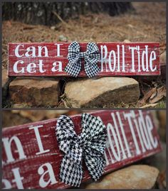 Wooden Alabama Roll Tide wall decor with houndstooth bow Alabama Room, Alabama Decor, Alabama Crafts, Alabama Wreaths, Sweet Home Alabama, Alabama Football Wreath, Football Signs, Football Crafts, Crimson Tide Football