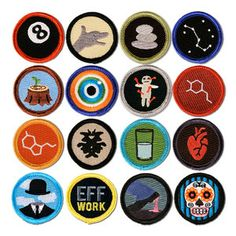 Disorderly Goods — Merit Badges For Grownup Feats These are way too expensive, but I love the concept! Would be awesome playa gifts...