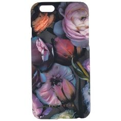 Ted Baker Fraiser Shadow Floral iPhone 6 Case (64 AUD) ❤ liked on Polyvore featuring accessories, tech accessories, mid grey and ted baker