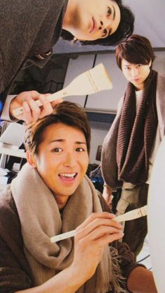 "jazzinjuly: "" dee4hero: "" Dorky trio.XDD "" Yama's faces. LOL """