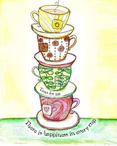 Tea Art Prints 8 x 10 size by SunnySpotStudio on Etsy