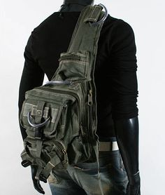 It's a purse for men so let's really butch it up, make it look all Army-like. Yeah, that's the ticket. ModernManBags.com
