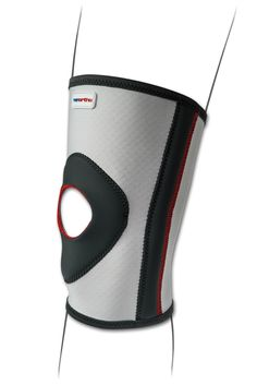 Ginocchiera tubolare semplice corta. Tessuto in fibra di carbonio elastico e traspirante. per stabilizzazione rotulea, prevenzione durante l'attività sportiva