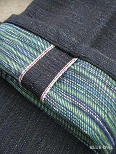 Rare hand-dyed weft by Naked & Famous. Photo ourtesy of blueowlworkshop.blogspot.com