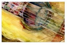 Art Print  Rock and Roll with my Ovation Guitar from by dfrdesign, $25.00