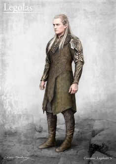 #Legolas costume concept art for The Desolation of Smaug by designer Anne Maskrey. #TheHobbit #OrlandoBloom
