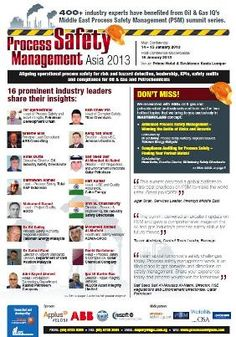 Process Safety Management Asia 2013 | 14 - 15 January, 2013, Prince Hotel & Residence, Kuala Lumpur, Malaysia | Aligning operational process safety for risk and hazard detection, leadership, KPIs, safety audits and compliance for Oil & Gas and Petrochemicals  | IQPC Asia