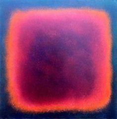 rot-pink-auf-blau-stanko  :::50x50 ::: Öl auf MDF-Platte - 2012